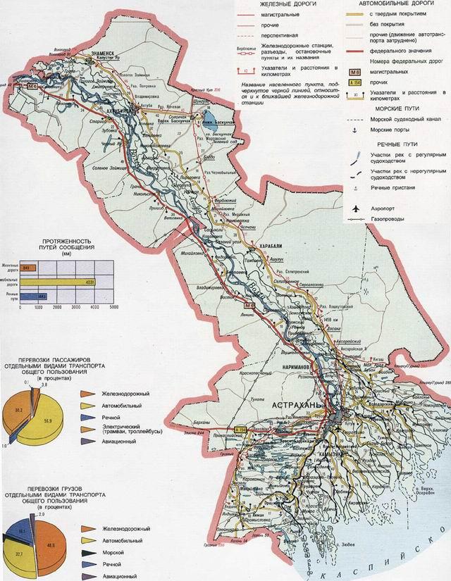 Транспортная карта Астраханской области
