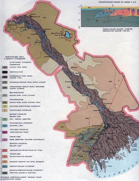 Рельеф Астраханской области